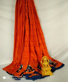 Red with Blue Silk Sarees